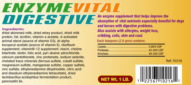 Enzime-Vital-Digestive for Dogs and Horses