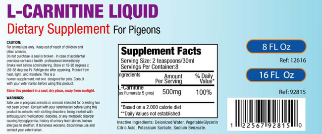 L-Carnitine-Liquid for Pigeons
