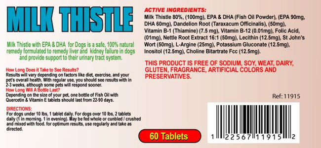 Milk-Thistle for dogs