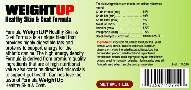 Weight-Up Healthy Skin and Coat Formula
